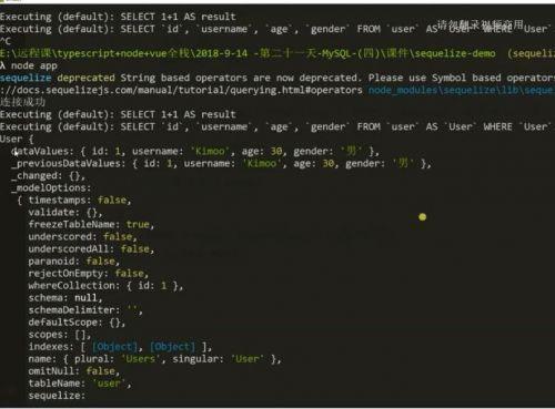 前端+后端项目全栈开发 Node+TS+Koa+vue系统开发视频教程 前端+后端商城实战视频课程